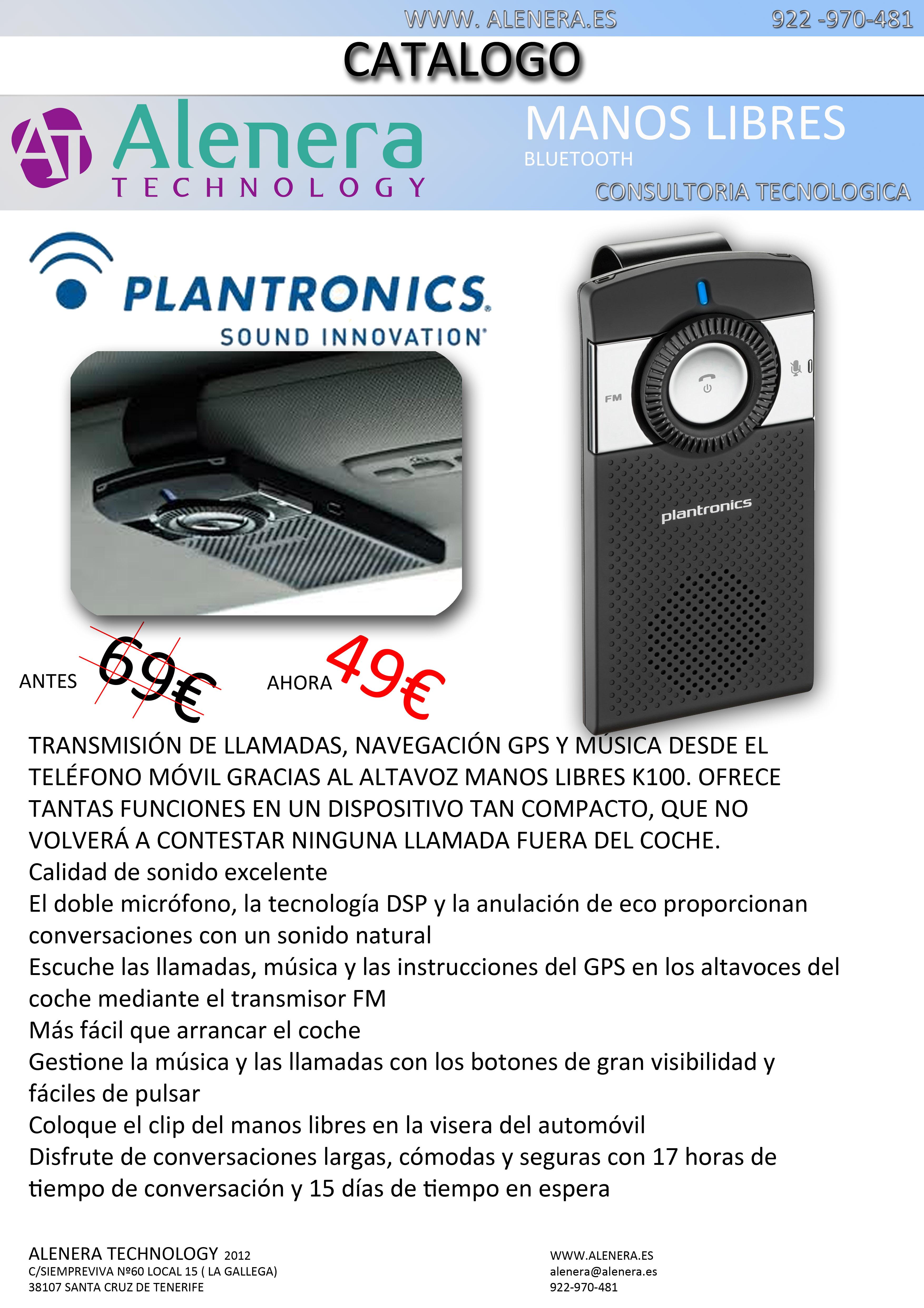 Manos Libres Plantronics K100 de oferta